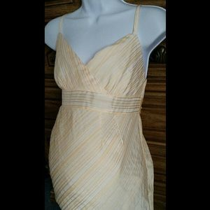 Yellow and white striped Maternity Pregnancy Dress